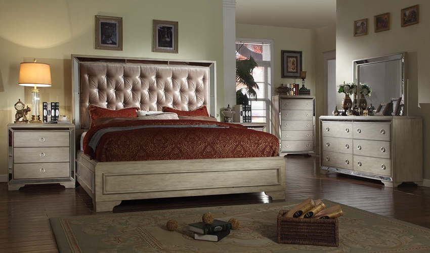 marilyn bedroom set in white wash