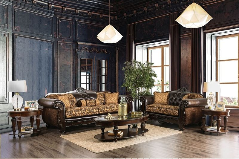 Belfast Formal Living Room Set in Tan