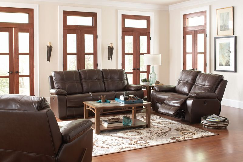 Holloway Reclining Leather Living Room Set
