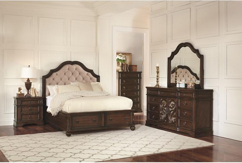Ilana Bedroom Set in Antique Java