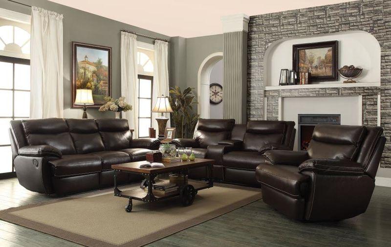 MacPherson Reclining Leather Living Room Set