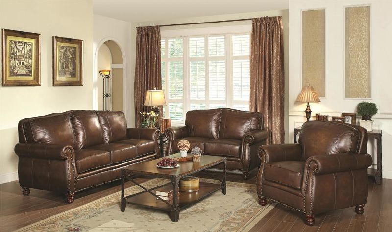 Von Furniture | Montbrook Leather Living Room Set