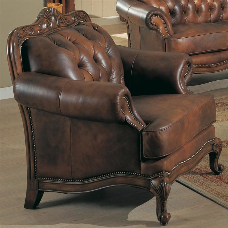 Victoria Leather Living Room Set