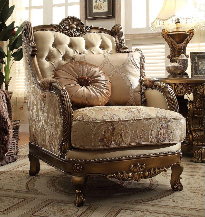 070078 Cremona Formal Living Room Set Von Furniture Free Shipping