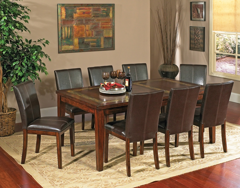 dining table slate inlay dining table