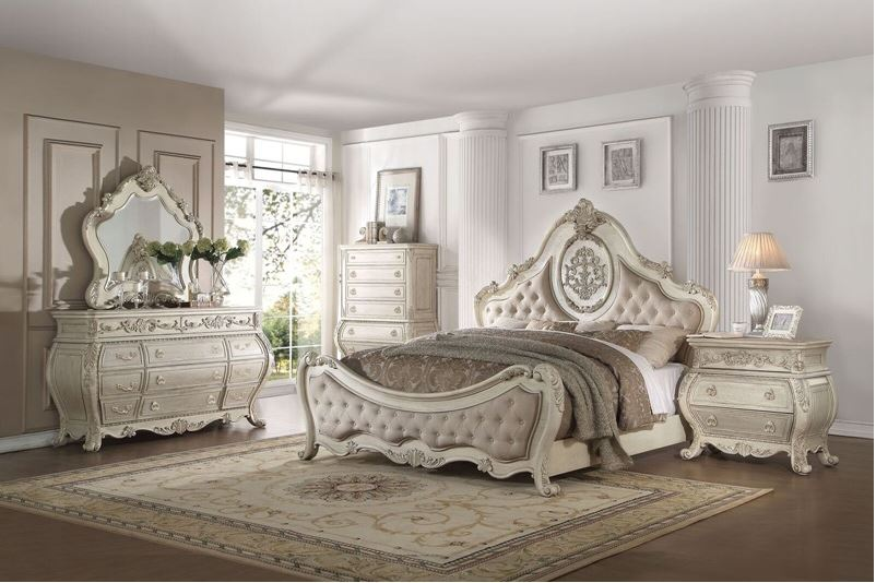 181342 Derby Bedroom Set in Antique White| Von Furniture | Free Shipping