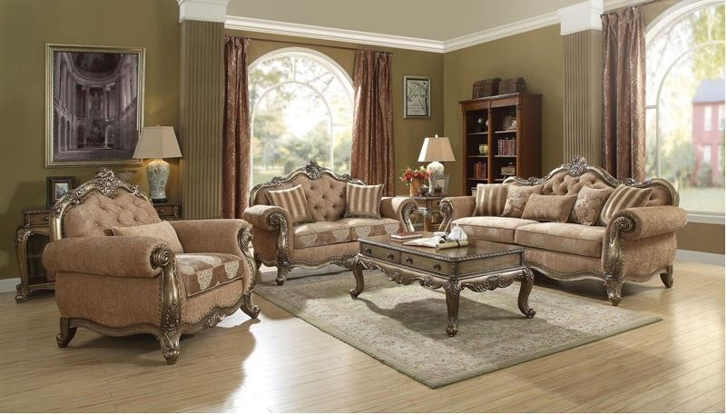 Derby Formal Living Room Set in Vintage Oak