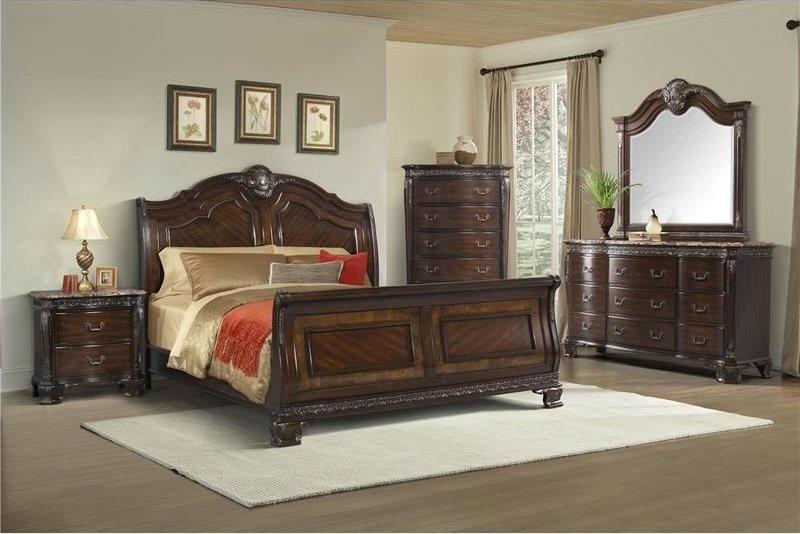 Von Furniture Southern Belle Bedroom Set With Sleigh Bed