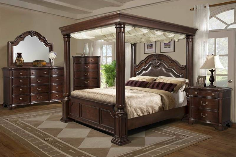 Von Furniture Tabasco Bedroom Set With Canopy Bed