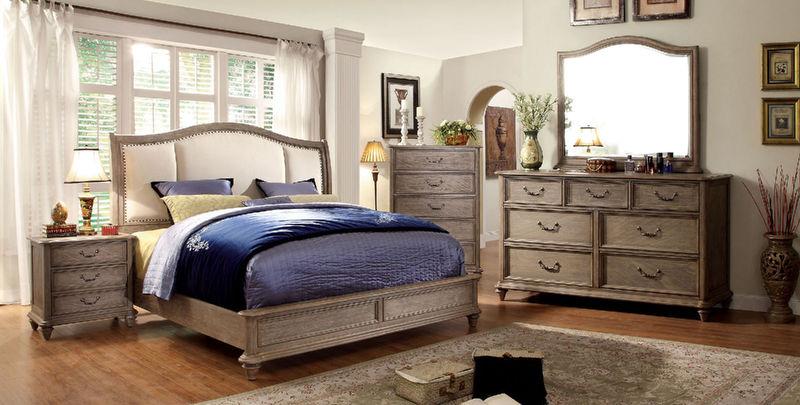 Belgrade II Bedroom Set with Upholstered Headboard