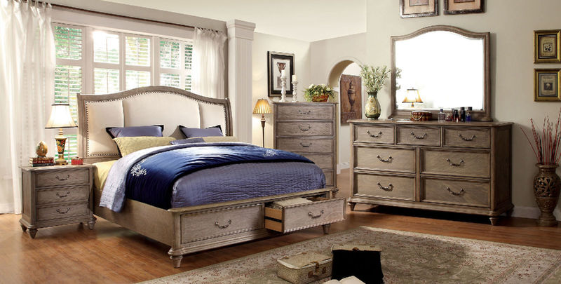 Belgrade I Storage Bedroom Set with Upholstered Headboard