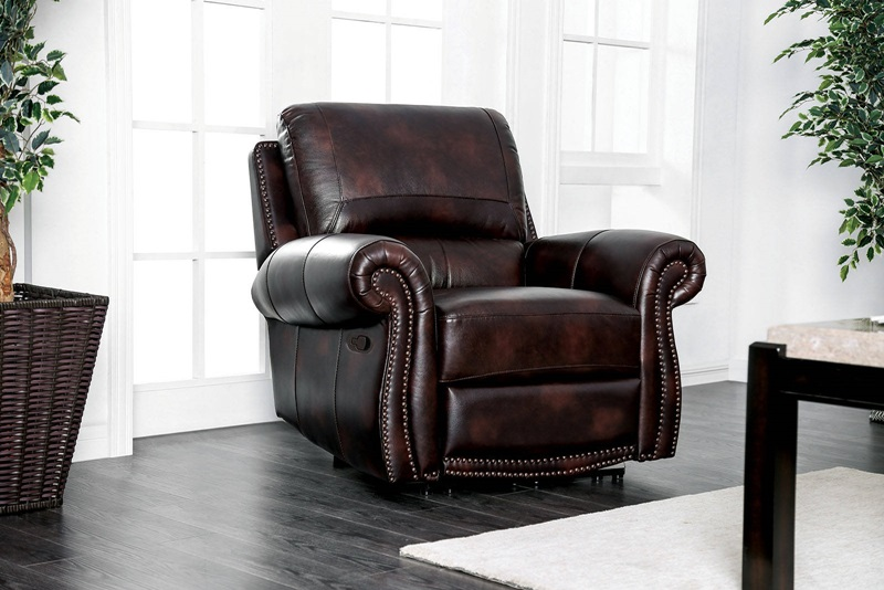 Edmore Reclining Leather Living Room Set