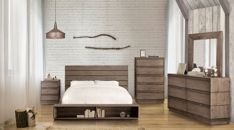 Coimbra Bedroom Set with Bookcase Footboard