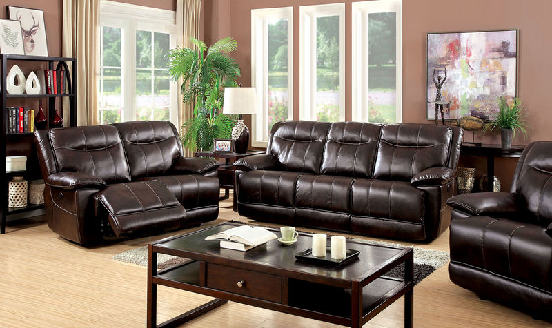 Dolton Reclining Living Room Set in Brown
