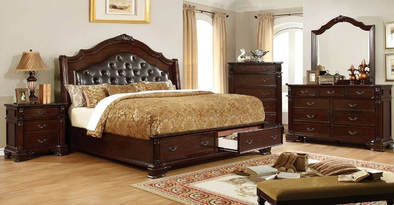 Edinburgh Bedroom Set with Storage Bed