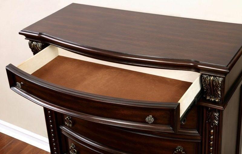 Fromberg Bedroom Set in Brown Cherry