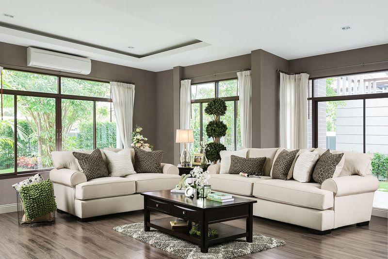 Gilda Living Room Set in Beige