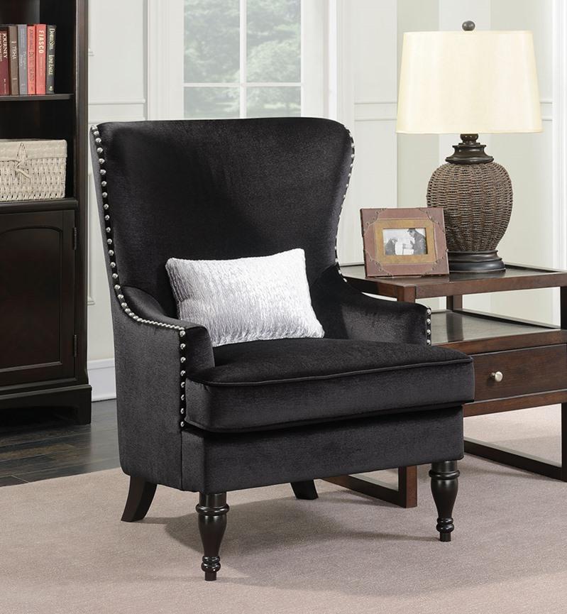 Manuela Living Room Set in Black