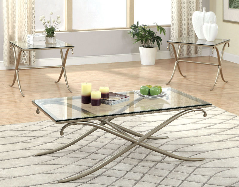 Antoinette Living Room Set in Gray