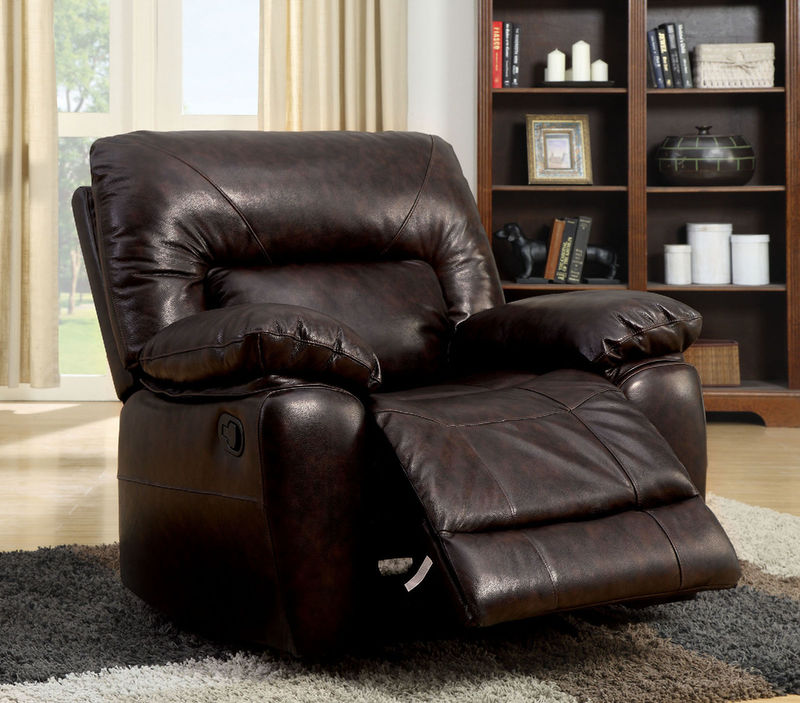 Stallion Reclining Leather Living Room Set
