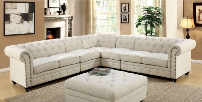 Stanford Sectional Sofa in Ivory