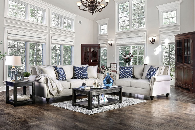 Giovanni Living Room Set in Beige