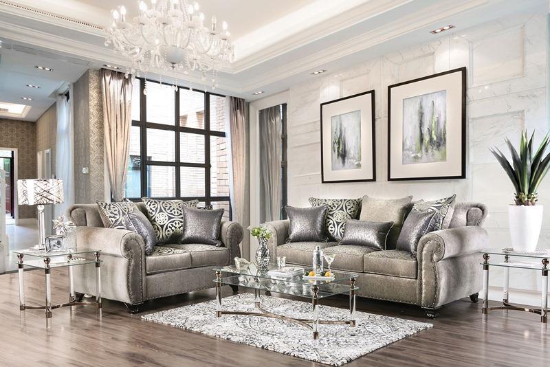 Sinatra Living Room Set in Gray