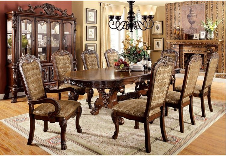 Gela Formal Dining Room Set in Cherry