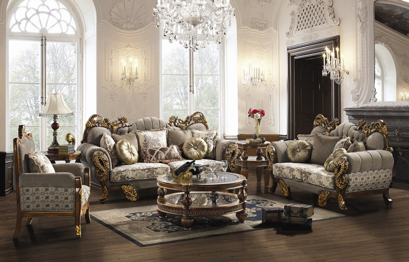 Camarillo formal living room set von furniture for Formal living room furniture