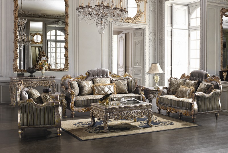 covina high end formal living room set von furniture. Black Bedroom Furniture Sets. Home Design Ideas