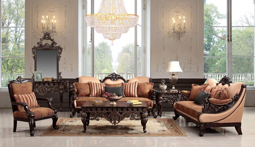Formal Victorian Living Room Set On Sale With Free Shipping
