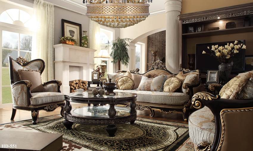 Living Room Set With Dark Wood Trim The Centennial Formal Living Room