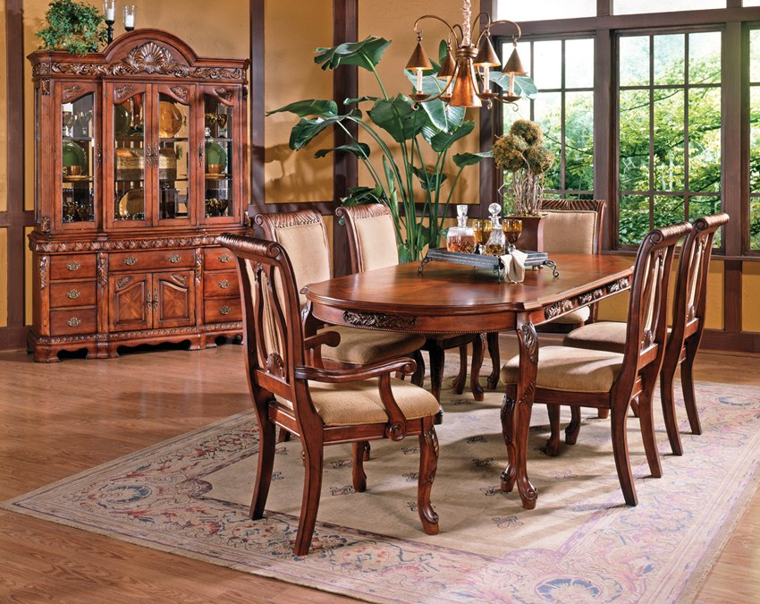 Captivating Big Oval Dining Table As One Of Mahogany Dining Room ...
