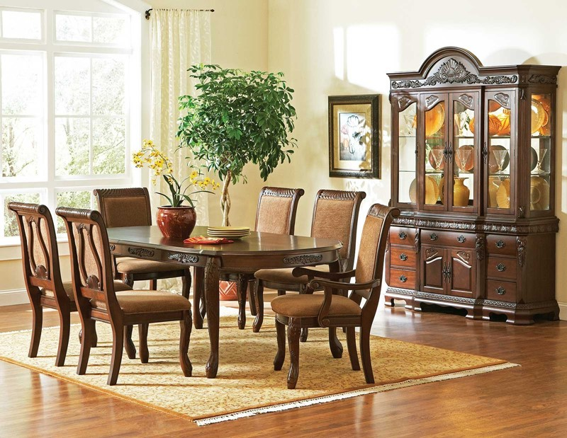 Haddon cherry formal dining room set free shipping for Cherry formal dining room sets