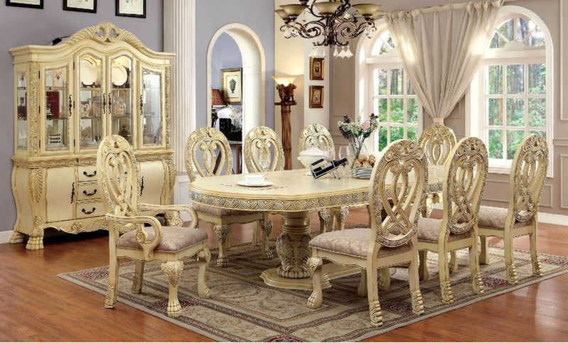 Harper Formal Dining Room Set in White