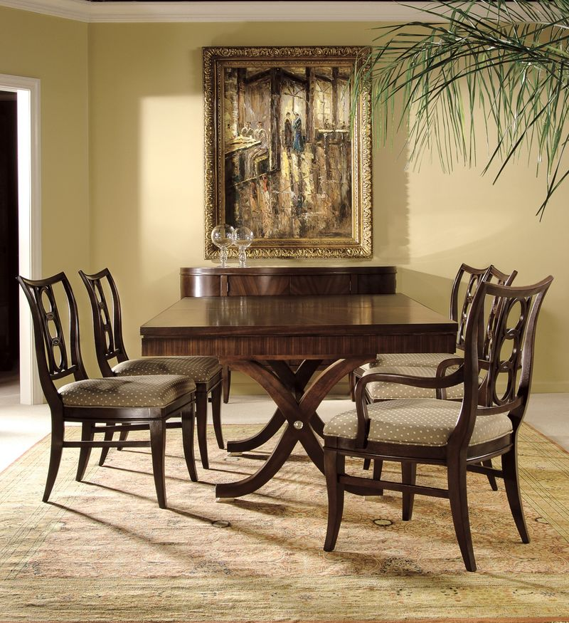Von Furniture Metropolis Formal Dining Room Set With Rectangle Table