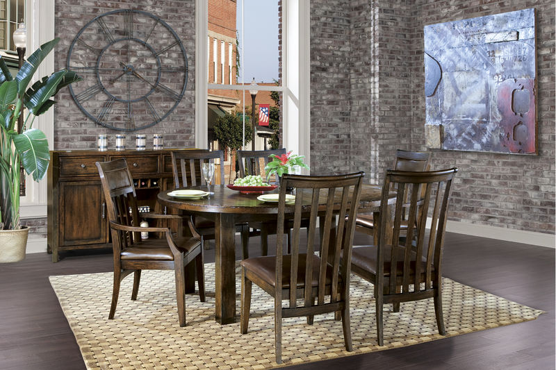 Von Furniture Harbor Springs Formal Dining Room Set With Round To Oval Table