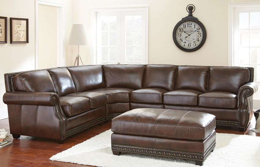 Henry Leather Sectional