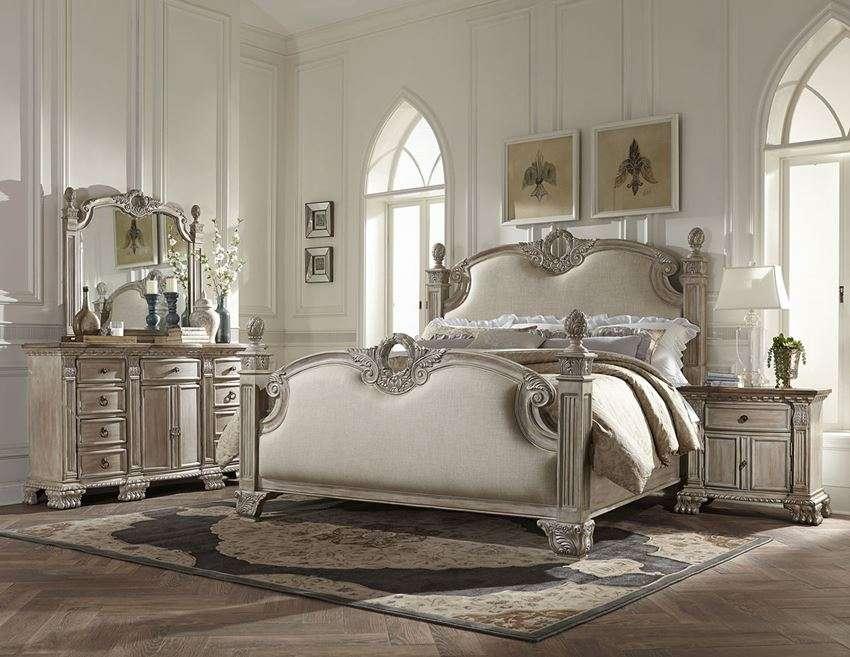 Orleans II White Wash Bedroom Set