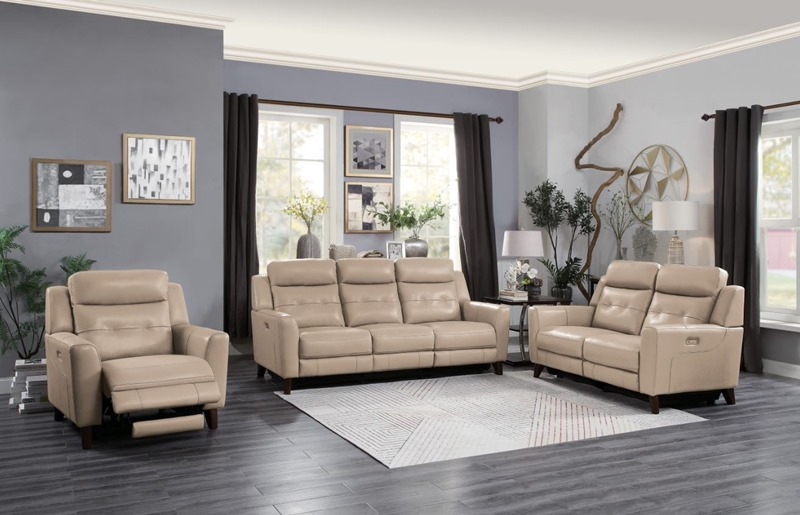 Wystan Reclining Leather Living Room Set