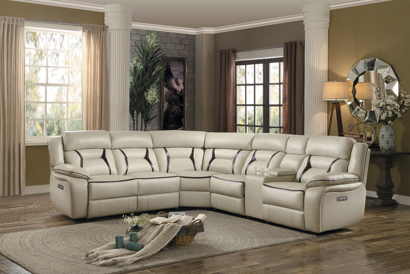 Amite Reclining Sectional in Beige