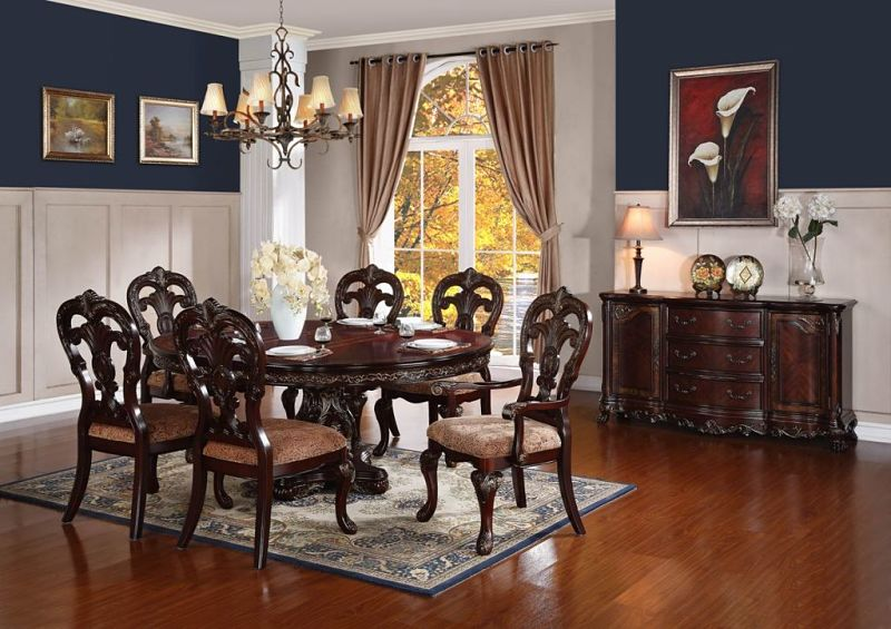 Von Furniture Deryn Park Round To Oval Formal Dining