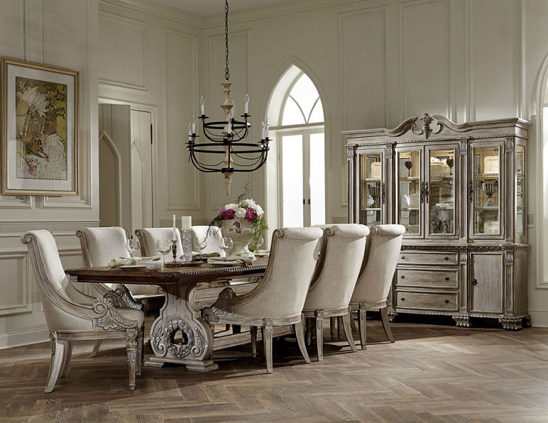 Charming Orleans White Wash Dining Room Set