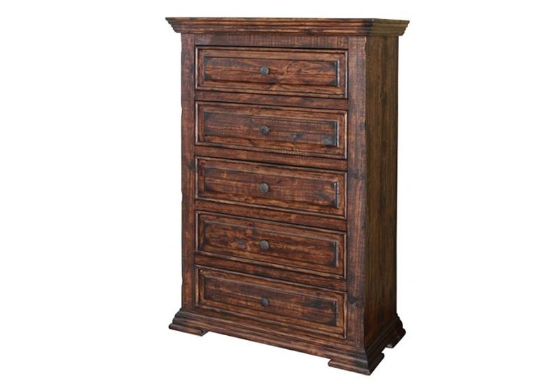 Terra 4 Piece Solid Wood Rustic Bedroom Set