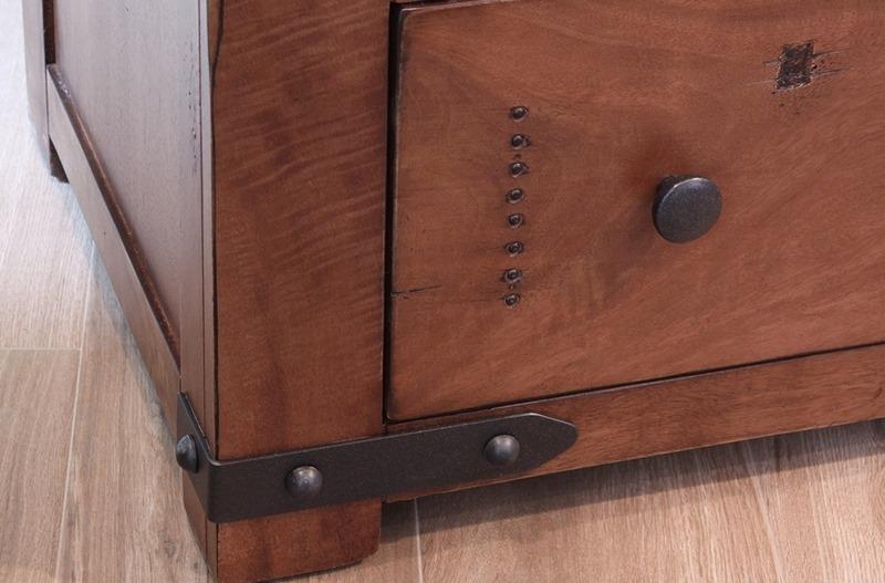 Parota II 4 Piece Solid Wood Rustic Bedroom Set