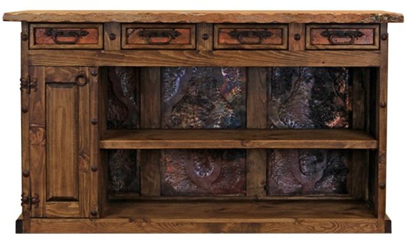 Rustic Bar with Copper Panels