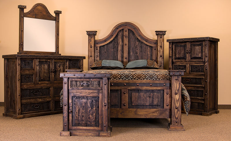 von furniture laguna rustic bedroom set 17026 | lmtrusticlagunabedroomset