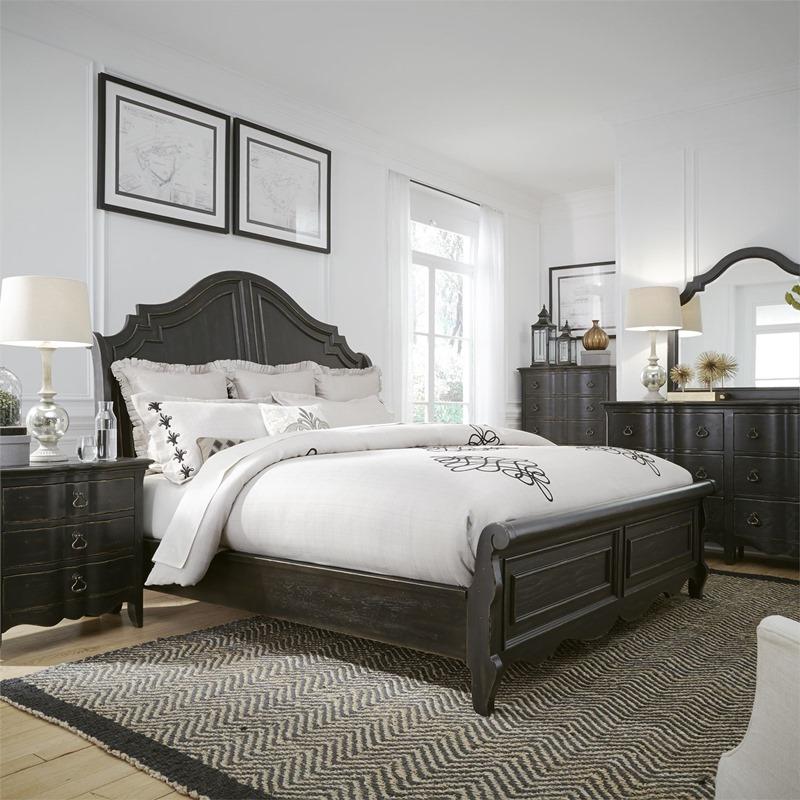 Chesapeake 4 Piece Queen Sleigh Bedroom Set