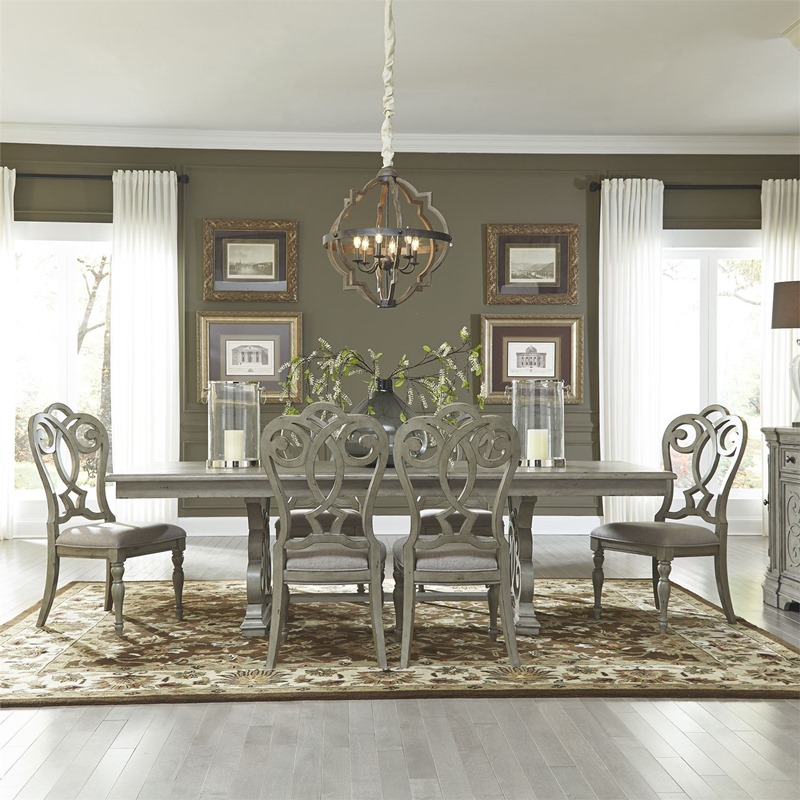Grand Estates 7 Piece Formal Dining Room Set with Splat Back Chairs