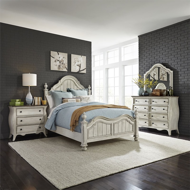 Parisian Marketplace 4 Piece Bedroom Set in Antique White